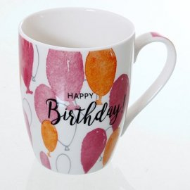 Becher mit Luftballons 'Happy Birthday'