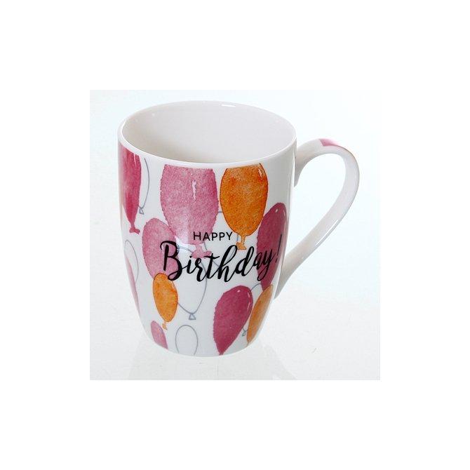 Becher mit Luftballons 'Happy Birthday'