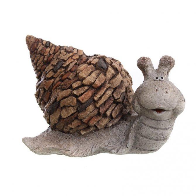 Schnecke mit spitzem Haus, braun/grau, 30 cm