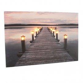 Bild 'Steg' mit Licht, 60 x 40 cm
