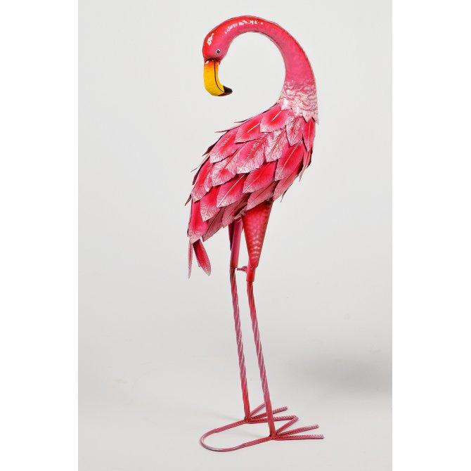 Flamingo 74cm Metall rosa