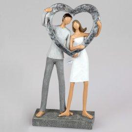 Paar mit silbernem Herz 27cm