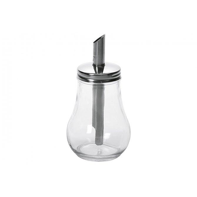 Zuckerdosierer Glas/Edelstahl 15,5cm