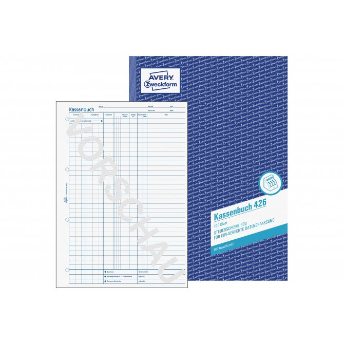 Kassenbuch 426 A4 EDV 100 Blatt